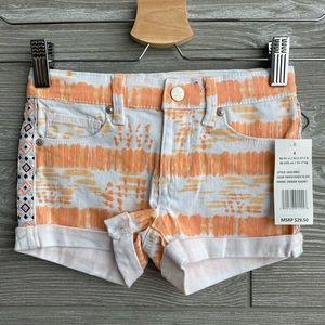 Jessica Simpson Papaya Punch Tie Dye shorts NEW